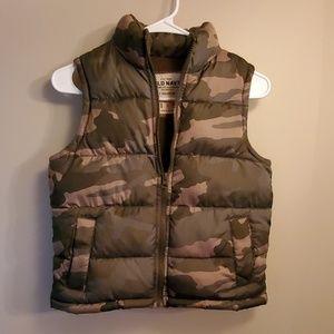 Camo Puff Vest